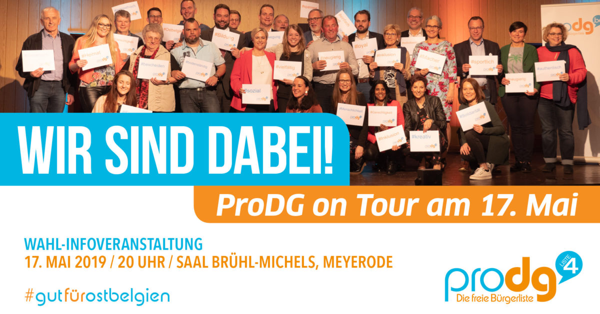 ProDG on Tour – 17. Mai 2019, Saal Brühl-Michels in Meyerode